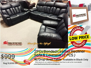 ◆2 PCs Recliner Sofa + Loveseat Clearance@New Direction Home