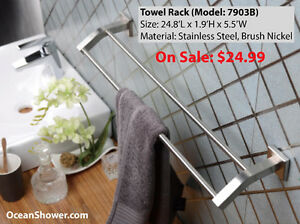 Wall Mounted Towel Rack / Shelf / Holder Stainless Steel London Ontario image 3