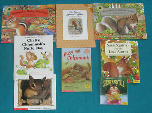 Chipmunk and Squirrel Theme Primary reading books