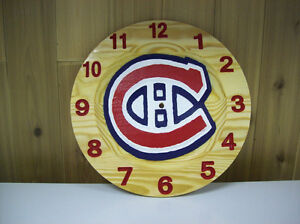 NHL clocks or anything you want on it all maple clock Cornwall Ontario image 4