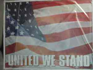 American Flag wth United we Stand! Tin Sign -NEW!