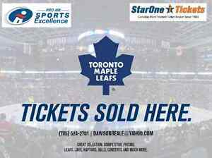 ***2017 Toronto Maple Leafs Single Game Tickets for ALL games***