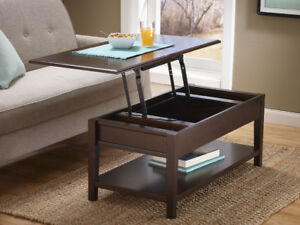 McLeland Design Lift-Top Coffee Table, New