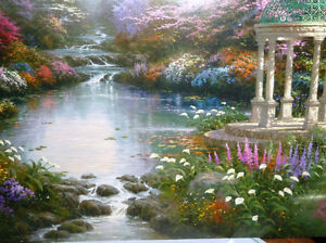 "Thomas Kinkade ""Garden of Prayer"" Art Print Stratford Kitchener Area image 2"