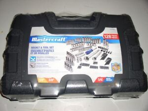 Mastercraft 128 piece socket tool set, brand new! Christmas idea