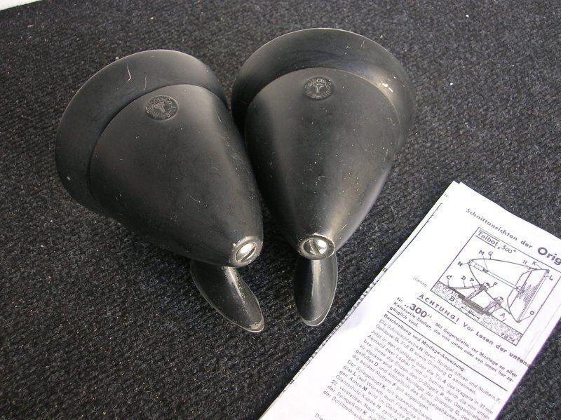 BLACK TALBOT WEST BERLIN MIRRORS MIRROR MERCEDES MB 190 300 SL PORSCHE 356