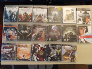 Assorted PS3 Games (All in excellent condition)