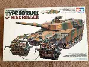 Tamiya 1:35 scale  Type 90 tank with Mine Roller