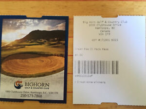 Two passes for Bighorn Golf Club