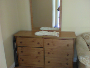 Large 6 drawer double dresser with mirror AND free gifts