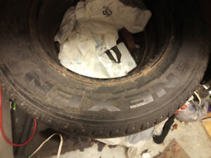 4 used Nexen snow tires &rims (215/70R15-98T) sale as is $200