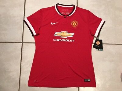 NWT Authentic NIKE  Manchester United 2014  Soccer Jersey Women's  XL image