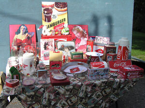 Collection d'objets Coca Cola