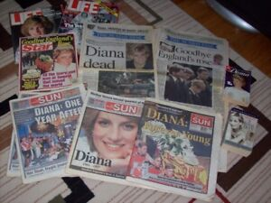 Lady Diana News papers and books