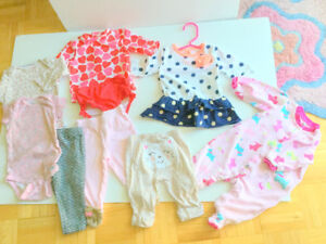 Baby Girl Clothes (3-6 m.) (9 = $1.60ea.) Dress, Pants, Jumpers