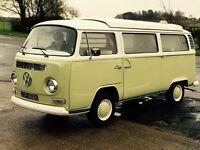 VW camper - T2 1972 rare crossover model with custom built interior