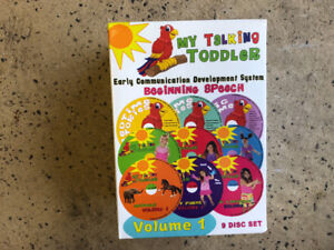 Kids learning to talk dvd's for sale $5