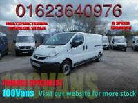 VAUXHALL VIVARO 2.0CDTi 115PS 2900 LWB CLEAN LITTLE WORK TRUCK SAME DAY FINANCE