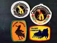 Vintage & Rare 1960's&1970's Calgary Stampede Rodeo Patches