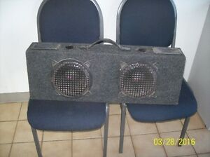 "Sub box with 8"" speakers"