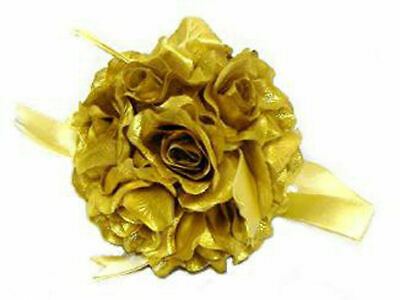 6 Kissing Balls GOLD 50th Anniversary Party Silk Roses Wedding Centerpieces](50th Centerpieces)
