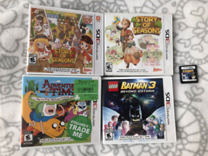 Nintendo 3DS games (Story of Seasons, Trio of Towns, Sonic)