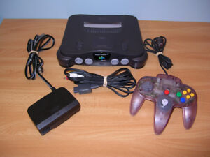 N64 System Console 1 controller Nintendo 64