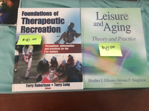 Recreation Therapy Textbooks