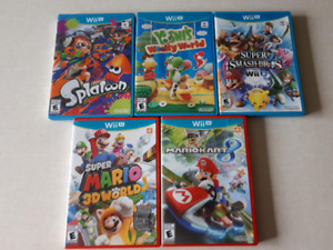 Jeux Nintendo Wii U , Mario, Yoshi, Splatoon, etc