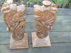 Chinese Carved Wood Post ( for table or flower pot stand....