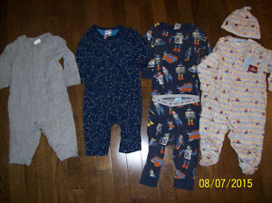 Baby Gap, Old Navy & Levi's Sleepers, Boys 6-12 months