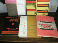 Vintage Typing and Shorthand books
