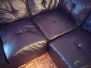 Bounded leather couches