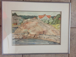 Original Water Color – Framed