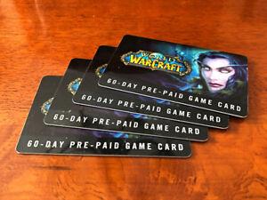 2 Pre-Paid Cards - World of Warcraft - 2 Cartes Prépayé