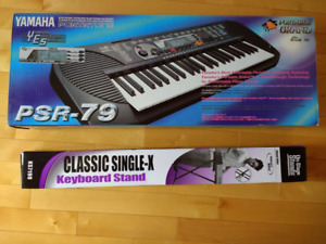 Yamaha electronic keyboard PSR-7 with stand - never used