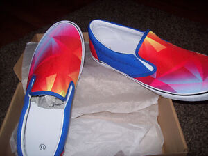 BRAND NEW SLIP ON SHOE WITH VAN LIKE SOLES  COLOURFUL