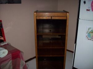 Solid Oak Display or Stereo Cabinet