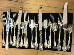 NORTHUMBRIA Normandy Rose Sterling silver flat ware 8 settings