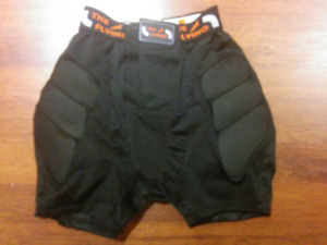 Girls padded snowboard shorts for ages 6-12