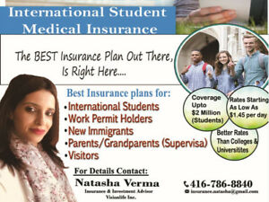Lowest Rates for Visitor/ Travel/ Super Visa/ Student Insurance