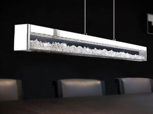 Crystal lamp for dining table or kitchen island