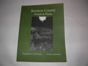 OTTAWA VALLEY BOOK, RENFREW COUNTY PEOPLE AND PLACES, N.O.S.