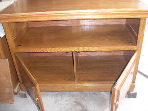 Solid Oak TV Stand or Entertainment Stand