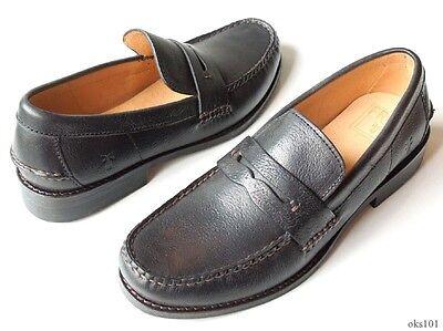 NIB mens FRYE 'Douglas' Penny Hammered black leather loafers shoes -
