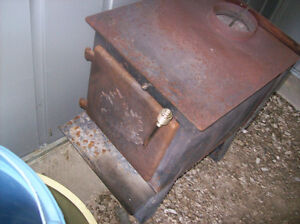 woodburning stove with fan blower