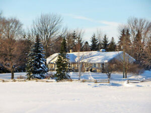 92 acre farm with custom house