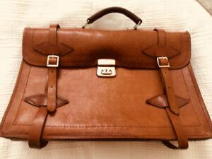 Vintage Leather Pilot Bag Attaché Excellent Condition