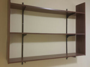 Shelves and  Wooden blinds for 2 windows