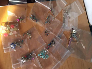 Large assortment of earrings. Mostly from Claire's